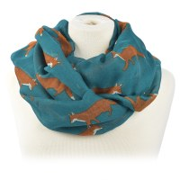 Joy Susan Fox Trot Scarf - Teal