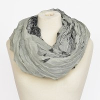 Joy Susan Bird & Tree Scarf - Gray