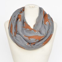 Joy Susan Fox Trot Scarf  - Grey