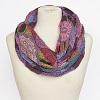 Joy Susan Medallion Stripe - Violet