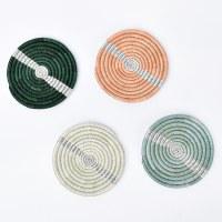 Kazi Floret Coasters - Striped Metallis