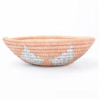 Kazi Round Basket - Metallic Peach