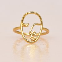 Katie Dean Artist Face Ring - Gold
