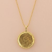 Katie Dean Beaded Coin - Gold