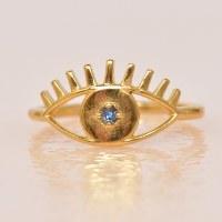 Katie Dean Evil Eye Ring - Blue