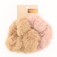Kitch Faux Fur Scrunchies - Blush/Mauve