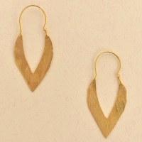 Leslie Francesca Almond Hoop - Gold