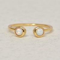 Leslie Francesca Gap Ring - Sky Blue Opal