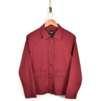 Liverpool Cropped Army Jacket - Raspberry