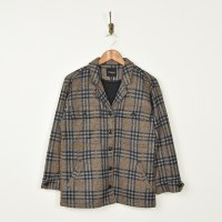 Liverpool Button Front Jacket - Tan Plaid