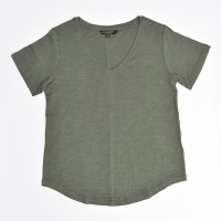 Liverpool Short Sleeve V Neck  - Fennel Green