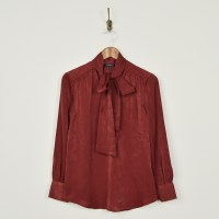 Liverpool V Neck Blouse - Autumn Red