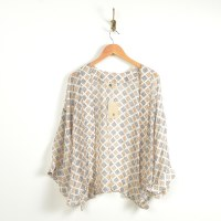 Look By M Embroidered Kimono - Beige