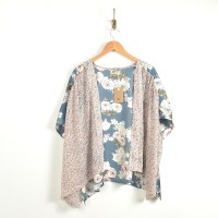 Look By M Two Tone Kimono - Rose