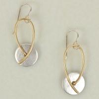 Marjorie Baer E8197 Earrings - Brass/Silver