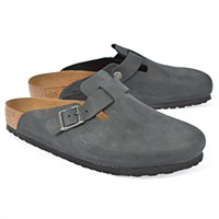 Birkenstock Boston Oiled Lea M - Black
