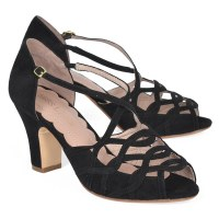 Miss L Fire Adele - Black Suede