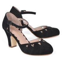Miss L Fire Lucie - Black Suede