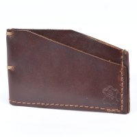 Orox Leather Slim Cardholder - Brown