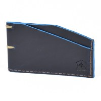 Orox Leather Slim Cardholder - Sapphire
