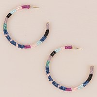 Olivia Dar Hoops Multi - Blue/Wine