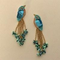Olivia Dar Kingfisher Earrings - Mutli BLue