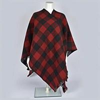 Pendleton Reversible Wrap - Red/Charcoal