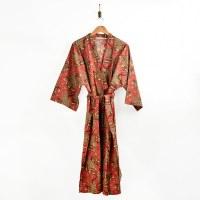 Print Fresh Bagheera Robe - Scarlet