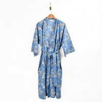 Print Fresh Tiger Queen Robe - Cornflower