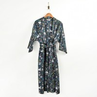 Print Fresh Unicorn Robe - Indigo