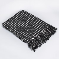 Saro Cross Thread Throw - Black/Natural