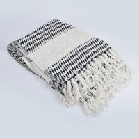 Saro Diamond Weave Throw - Navy