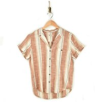 Toad & Co Camp Cove SS Shirt - Salt Pinstripe