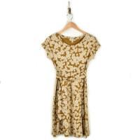 Toad & Co Cue Wrap SS Dress - Husk Daisy