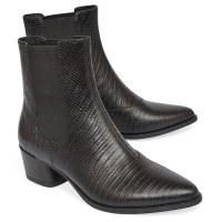 Vagabond Lara Moc Croc Boot - Black