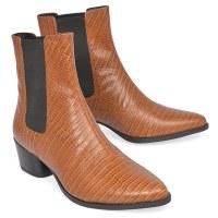 Vagabond Lara Moc Croc Boot - Cognac