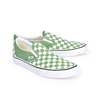 Vans Slip On M Checker - Shale Green