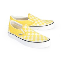 Vans Women's Slip On Checker - Cyber Yellow