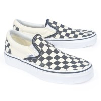Vans Women's Slip On Checker - Black/White