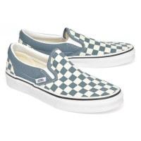 Vans Women's Slip On Checker - Blue Mirage