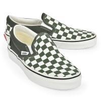 Vans Women's Slip On W Checker - Thyme