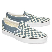 Vans Slip On Checker  - Blue Mirage