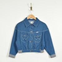 Wangler Crop Sport Jacket - Dip Rinse
