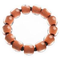 Zsiska Colurful Beads Bracelet - Orange