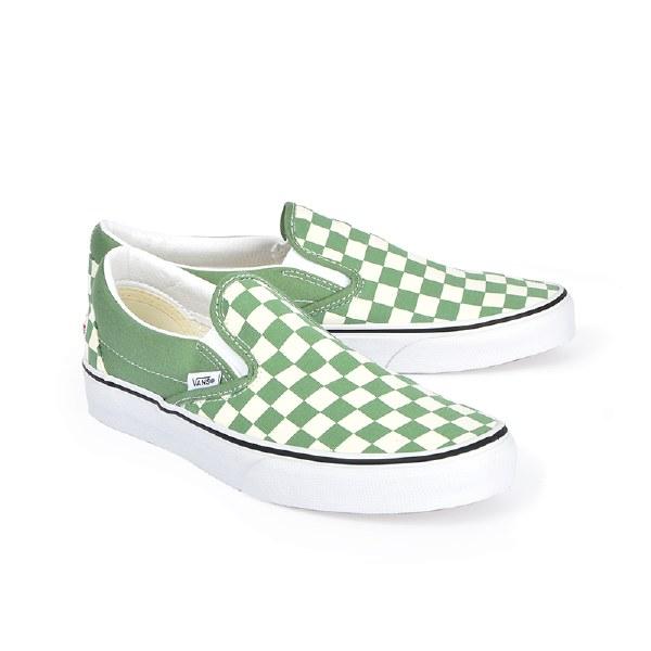 Vans Slip On M Checker - Shale Green
