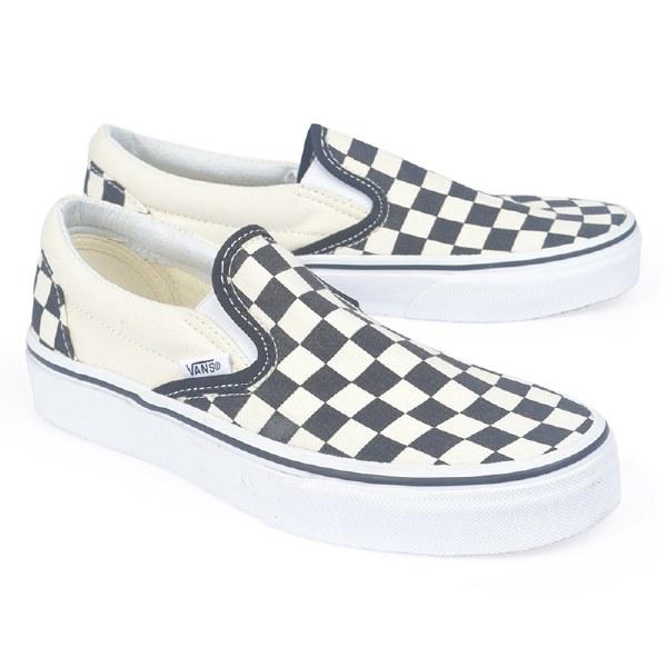 Vans Women's Slip On Checker - Black/White