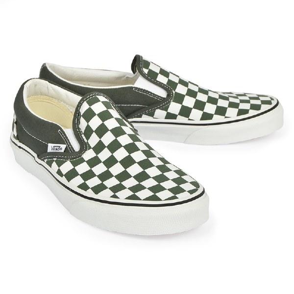 Vans Men's Slip On M Checker - Thyme