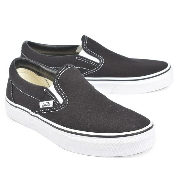 Vans Classic Slip On W Canvas  - Black/White