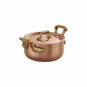 "Copper 4.3"" Mini Dutch Oven with Lid"