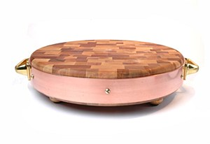 Round Copper Chop block